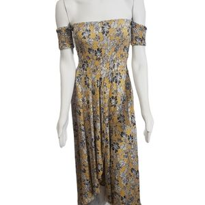 VICI Smocked Waist Marigold Floral Maxi Dress